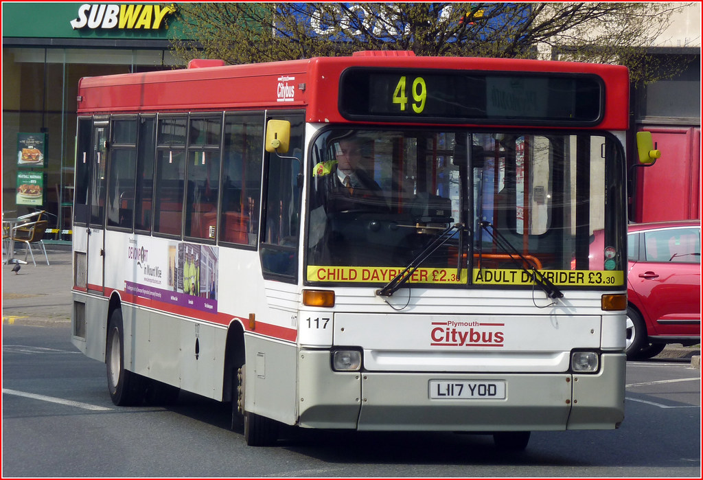 Plymouth Citybus 117 L117YOD