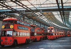 London transport Wood Green trolleybus depot 1959. (Ledlon89) Tags: bus london transport depot lt trolleybus londonbus electrictransport vintagebuses busgarages