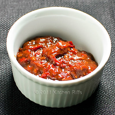 Sichuan Chili Bean Sauce in a Ramekin