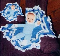 Ravelry Vintage Crocheted Doll Baby In A Blanket Pattern By Vintage