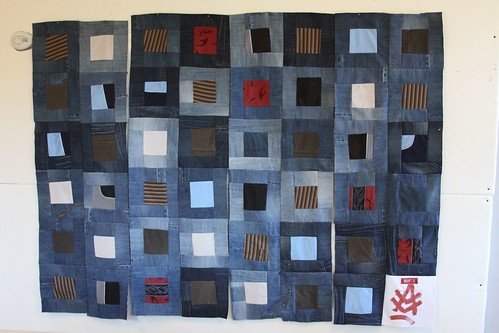 recycled jean quilt, quilt made from jeans
