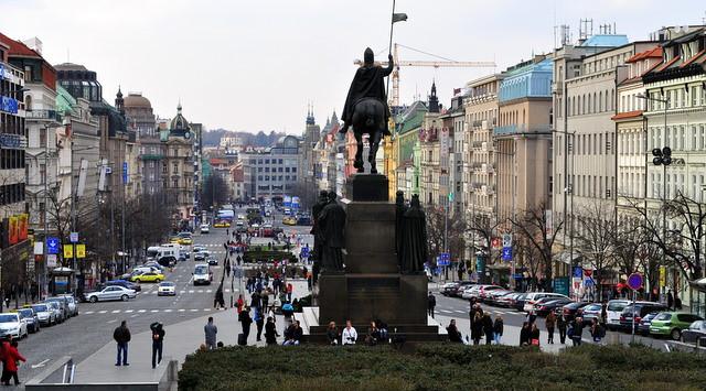 Wenceslas Square, Prague.