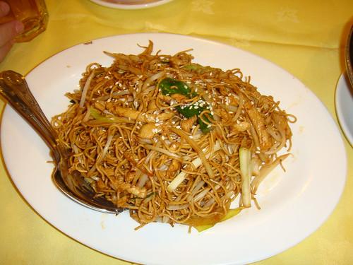 Noodles con pollo