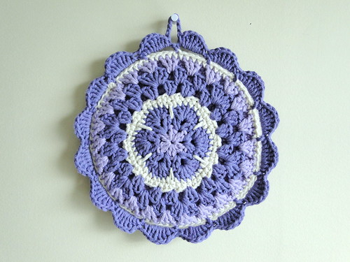 plus 3 crochet: african flower potholder