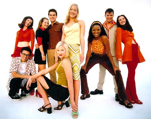 """Sweet Valley High"" TV cast, via vidiot.com"