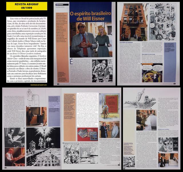 """O espírito brasileiro de Will Eisner"" - Revista ABIGRAF - setembro/1999"