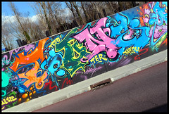 By TOUNE (TER) (Thias (-)) Tags: terrain streetart wall painting graffiti mural spray urbanart painter toune graff toulouse aerosol bombing spraycanart colorexplosion ter pgc thias photograff frenchgraff decospray photograffcollectif