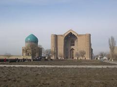 Mausolea (upyernoz) Tags: mausoleum kazakhstan turkistan turkestan khoja  ahmat    mausoleumofrabiisultanbegum     mausoleumofkhojaahmatyasawi mausoleumofkhojaahmatyasaui