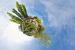 Tweed around the world ~ Explored (edwardhorsford) Tags: old panorama london classic bicycle vintage clothing cyclist little ninja run panoramic cycle planet stitched saddle tweed tallyho fashioned stereographic hugin 2011 nodal nodalninja 9thapril tweedrun