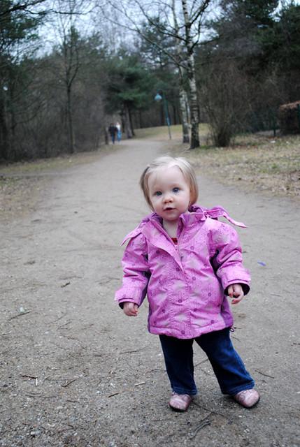Penny's first walkWEB