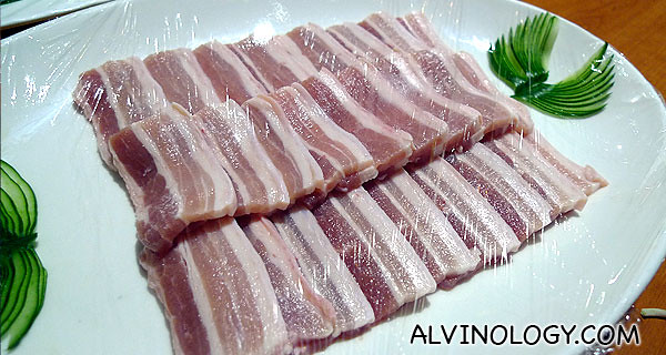 Three-layer fatty pork