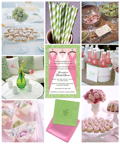 Pink and Green Bridal Shower