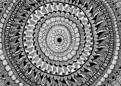 Bloom (gl/gc?int=25) Tags: sun white abstract black flower art texture net pen flow grey high experimental graphic blossoms monochromatic textures ornament bloom hallucination organic draw trippy psychedelic a4 cells core trance psy hypnosis streem