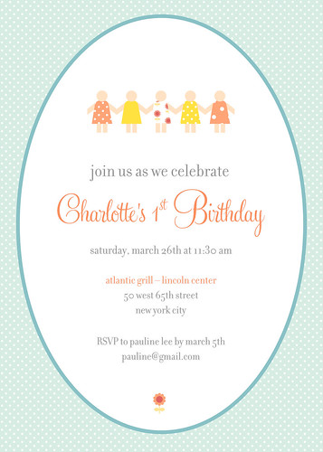 Charlotte's 1st Birthday Party Invite