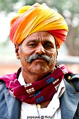 An Indian Portrait (Popeyee) Tags: portrait india man colour image indian picture colourful turban rajasthan safa pagri paag