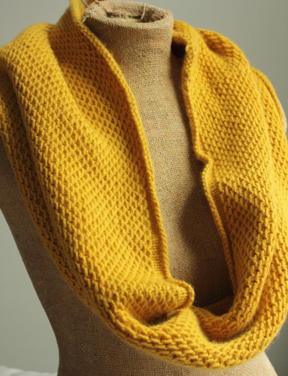 A Common Thread Finished Honey Cowl In Mustard Yarn