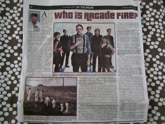 Arcade Fire for On the Radar