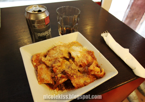 ravioli and diet coke