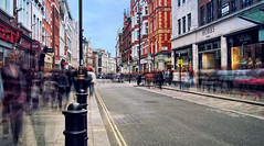 Daytime long exposure on Long Acre (Anatoleya) Tags: street london pen long exposure day time olympus daytime exposures nd8 nd4 epl1