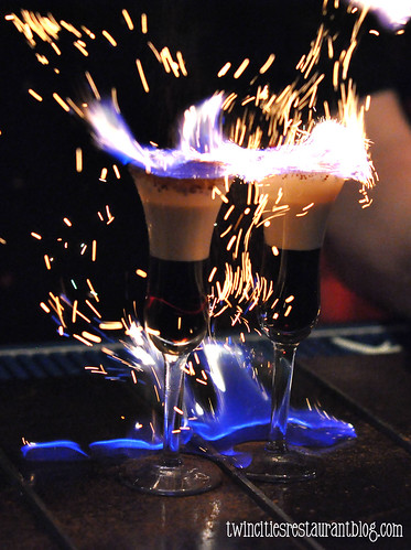 Flaming Cinnamon Shots at Shorewood Bar & Grill ~ Fridley, MN