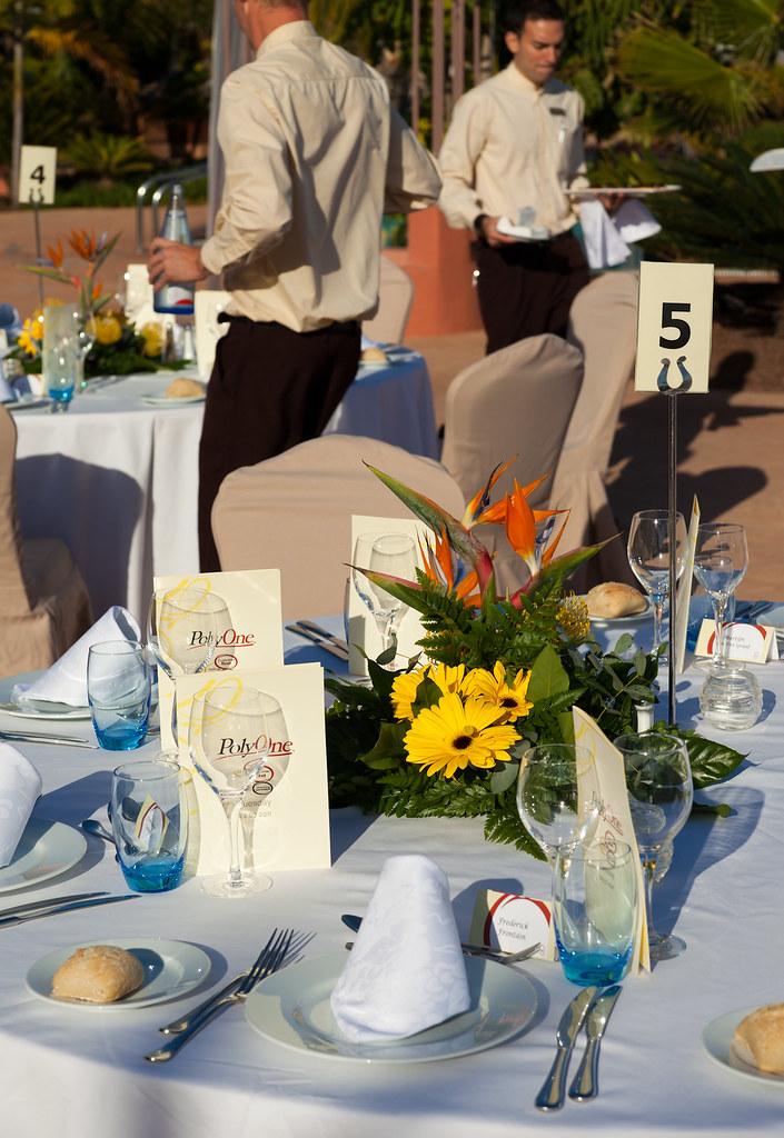 Evento/Events, table set up, decoration, catering, pool area, Sheraton La Caleta