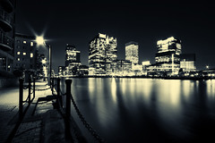 London Docklands (Dave Watkins UK) Tags: city uk longexposure urban building london architecture night office cityscape docklands 10mm sigma1020 explored canon1000d