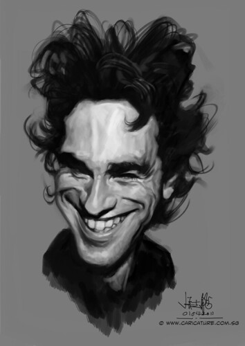 Digital caricature of Daniel Day Lewis - 2