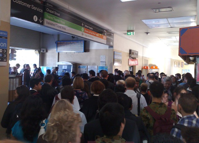 POTD: Crowding at South Yarra