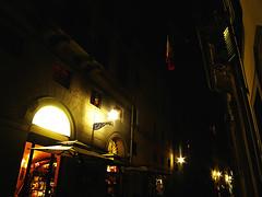 Una Strada Scura e Bella (QuinntheIslander) Tags: italy beautiful night florence italia time nighttime tuscany firenze bella toscana bellissima firenzedinotte florenceatnight italyatnight italiadinotte
