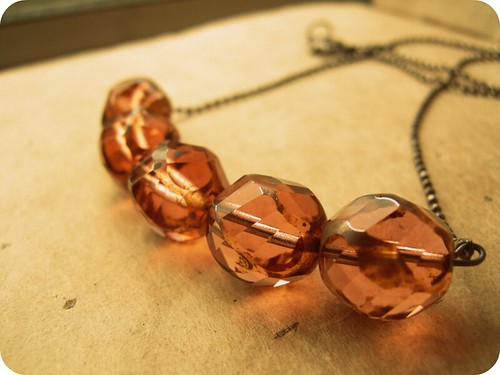 Antique Rose Necklace.