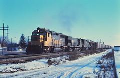 Santa Fe GP-35 at Elkhart 1976 (Mark LLanuza) Tags: santa fe