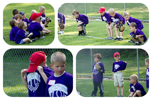 tee ball collage