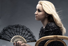 Portrait of the blond girl with fan. (DeusXFlorida (2,006,995 views) - thanks guys!) Tags: portrait studio spring eyes nikon women faces models longhair norman sharp natasha beautifulgirls strobe wsp sharpimages studiophotography humanfaces nikond60 girlsportraits pentaxsupertakumar thoriumglass modelsportfolio normanml400 deusxflorida nikond60withpentaxsupertakumar50mmf14lens girlwiththefan norman2400strobe clouseupportrait blondywithfan