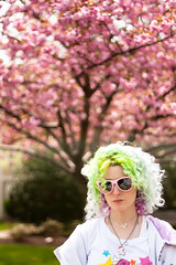 Day 142 of 365 - Year 2 (wisely-chosen) Tags: pink selfportrait me bokeh blossoms april canon50mmf18 bluehair tokidoki greenhair cameraraw yellowhair ironfist 2011 365days kwanzancherrytree lavenderhair naturallycurlyhair manicpanicredpassion manicpanicultraviolet manicpanicshockingblue manicpanicelectricbanana curlformers adobephotoshopcs5extended herbalessencestouslemesoftlyconditioner itsa10miraclehairmask