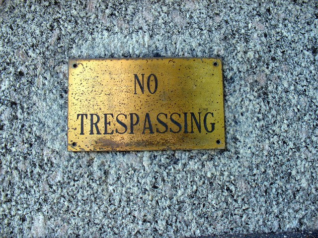 smallest No Trespassing sign I have ever seen