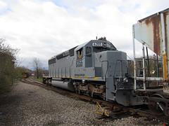 Stealth Engine (Fan-T) Tags: ohio lake ex train kent diesel gray engine stealth locomotive erie wheeling kcs sd402 6355 wle