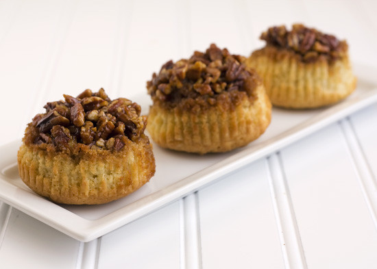 Sticky Pecan Upside-Down Cupcakes