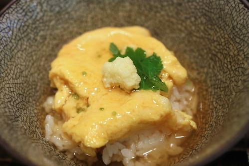 Gohan mono (rice dish): kani-tama an-kake gohan