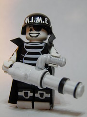 Elite M.I.M.E Soldier (~Amadgunslinger~) Tags: soldier lego fig mini elite minifig custom mime minigun brickarms
