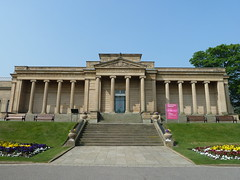 Weston Park Museum Sheffield Yorkshire (woodytyke) Tags: park county uk flowers england sky west flower building green english history grass urn stone museum architecture facade garden photography photo bed university gallery day order britain south sheffield yorkshire united north columns steps kingdom clear classical british neo isles weston portico ionic mappin woodytyke 2011sheffield22april