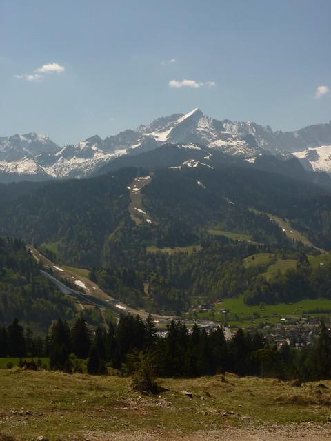 Sprungschanze und Alpspitze Garmisch-Partenkirchen
