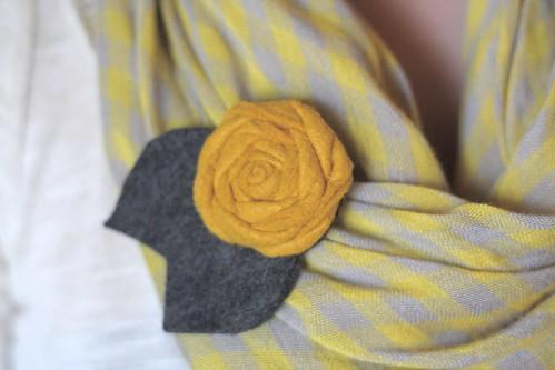 rosette brooch.