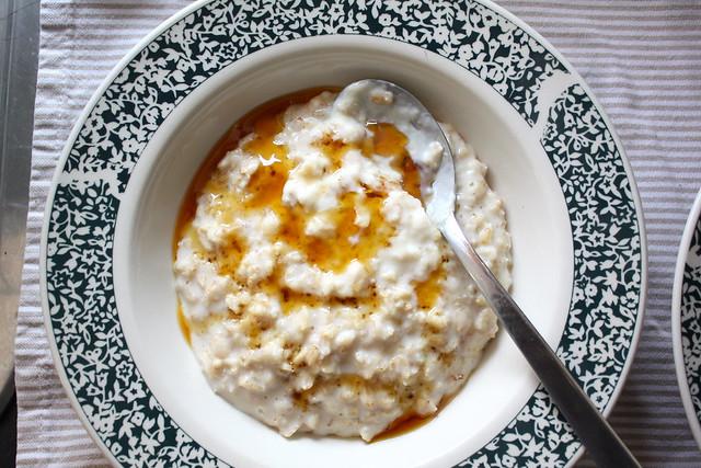 porridge for breakfast+ honey