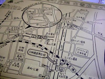 天神橋筋・中崎町界隈 古書店マップ