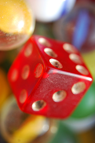 red dice numbers marbles