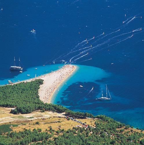 Zlatni rat beach, Bol island Brac, Croatia