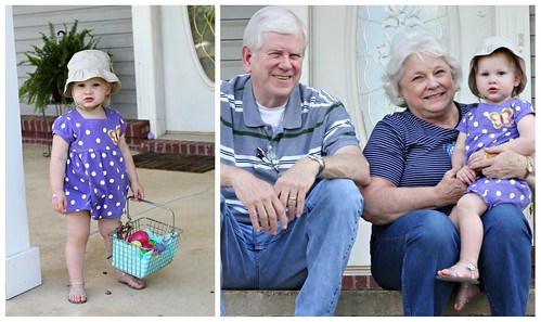 Easter Egg Hunting with Nana and Grampa
