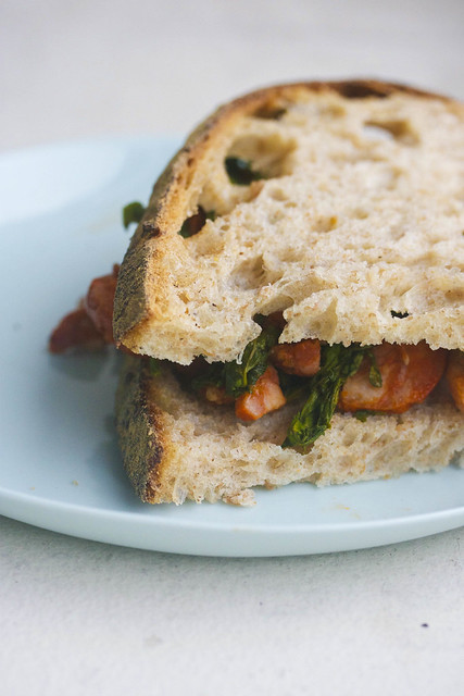 Broccoli Rabe and Chorizo sandwhich (1 of 1)