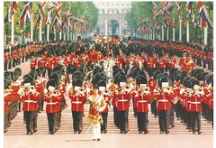 Massed Bands of the Guards Division. (cheryldecarteret) Tags: wedding musicians postcard military band ceremony royal grenadierguards pageantry irishguards scotsguards coldstreamguards welshguards