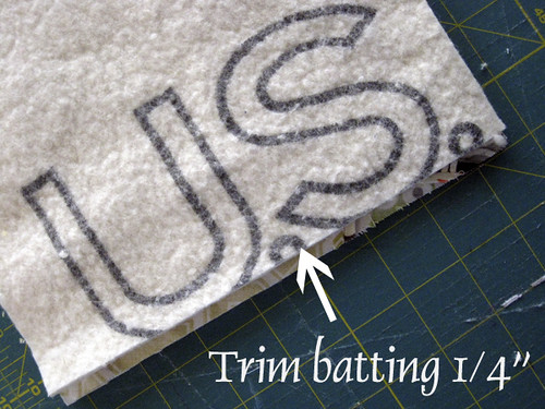 #1 Trim Batting & Sew Right Sides Together